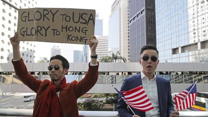 Demo anti-pemerintah masih berlangsung di Hong Kong pada hari Minggu (1/12/2019)