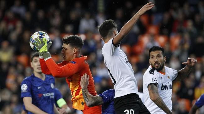Tuan rumah Valenciaditahan imbangChelsea 2-2 di Stadion Mestalla. (AP Photo/Alberto Saiz)