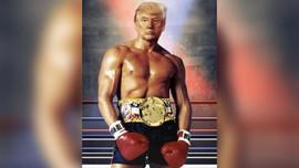 Diterpa Rumor Kesehatan, Trump Unggah Gambar ala Rocky