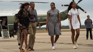 Selebriti Kagumi Penampilan Terbaru Kedua Putri Barack Obama
