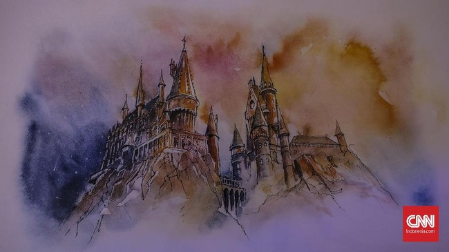 Grand Staircase, tangga bergerak di Hogwarts, juga bisa dinikmati di sini.