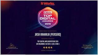 Jasa Raharja Raih 2 Penghargaan di Ajang Top Digital Award