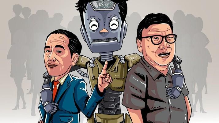 Infografis/ jokowi meminta maaf, pilihan jatuh padA robot daripada pns/Aristya Rahadian Krisabella