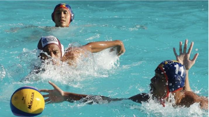 Timnas polo air putra Indonesia meraih emas di SEA Games 2019. (Iggoy el Fitra)