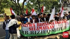 Demo Pulangkan Rizieq Bubar Usai Ditemui Anak Buah Mahfud MD