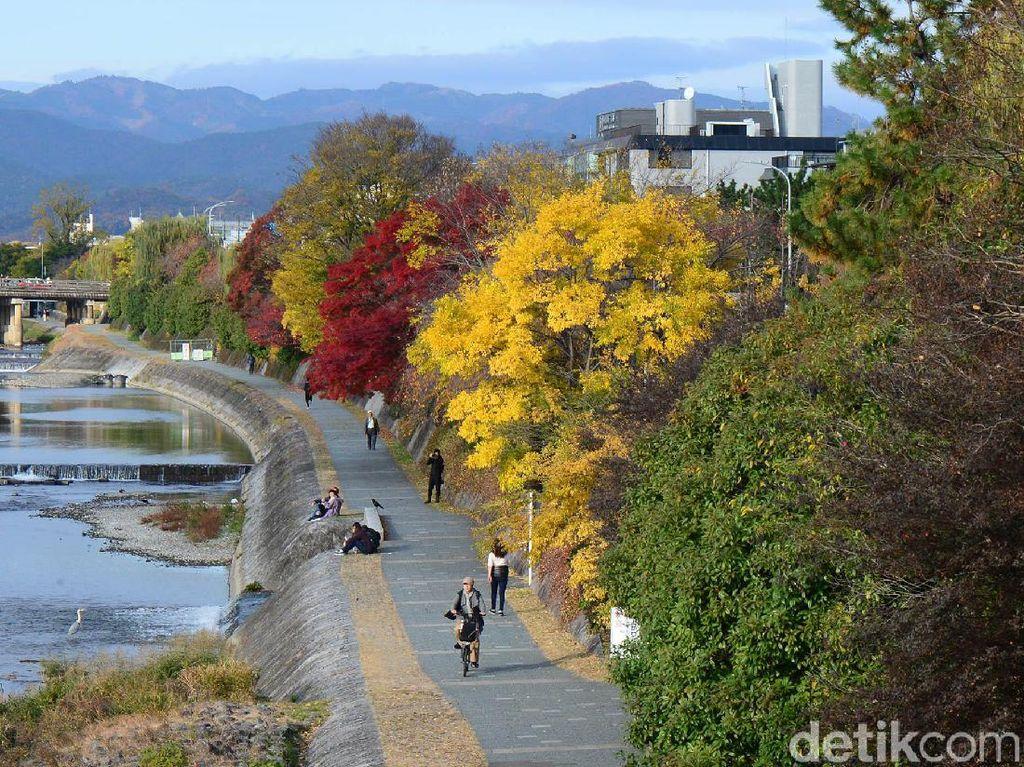 Keindahan bentang alam yang terbentuk dari gradasi warna dedaunan menarik para turis ke sejumlah tempat, taman kota, hutan kota maupun area umum lainnya.
