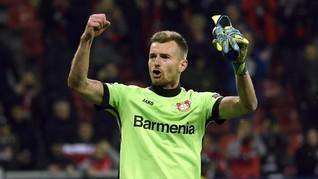 Kiper Leverkusen Main 20 Menit dengan Satu Mata Lawan Munchen