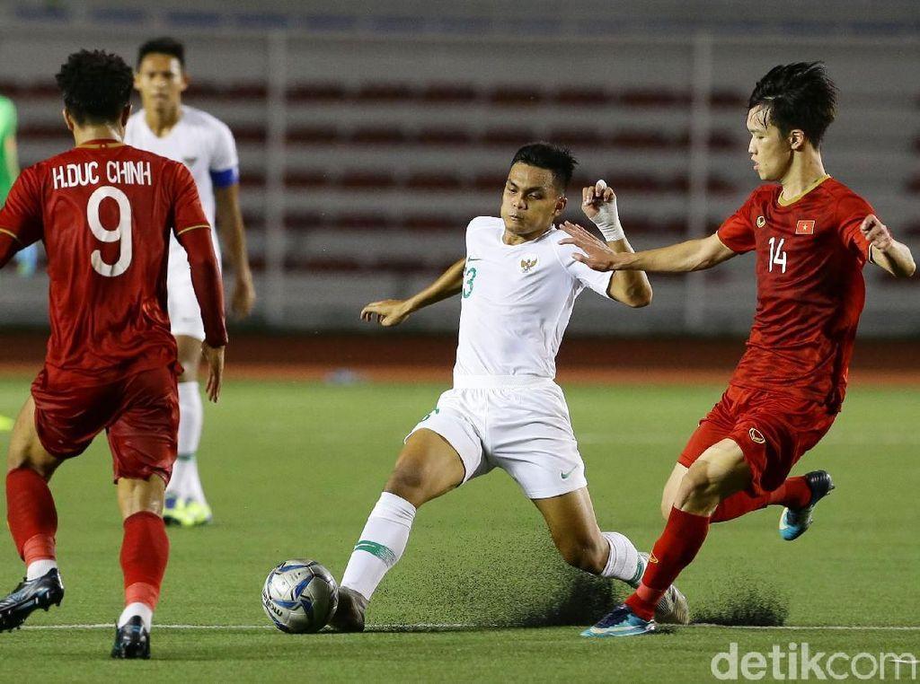 Vietnam vs Indonesia memainkan laga Grup B di Rizal Memorial Stadium, Minggu (1/12/2019) malam WIB.