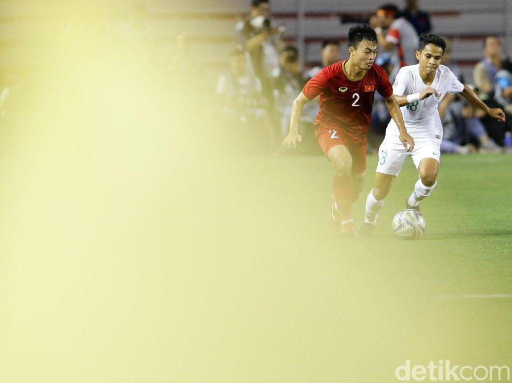 Hingga pertandingan usai tidak ada gol tambahan yang tercipta. Keunggulan 1-0 Indonesia bertahan sampai jeda.