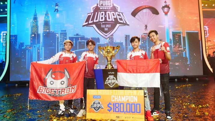 Bigetron RA, tim eSport asal Indonesia menyabet juara pertama dalam ajang PUBG Mobile Club Open Fall Split Global Final 2019.