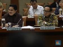 Di Depan DPR, Erick Jelaskan Arah Bisnis Mandiri, BRI & BNI