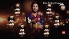 VIDEO: Lionel Messi Terima Trofi Ballon d'Or Keenam Kalinya