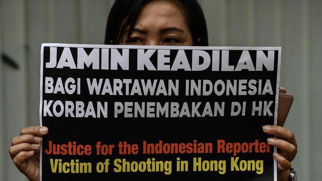 Jurnalis RI Ditembak Polisi Hong Kong Lanjutkan Gugatan