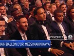 Raih Ballon d'Or, Messi Makin Kaya