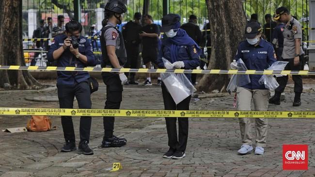 Saat kejadian, dua korban tengah berolahraga yang rutin digelar setiap selasa pagi di kawasan Monas. (CNN Indonesia/ Adhi Wicaksono)