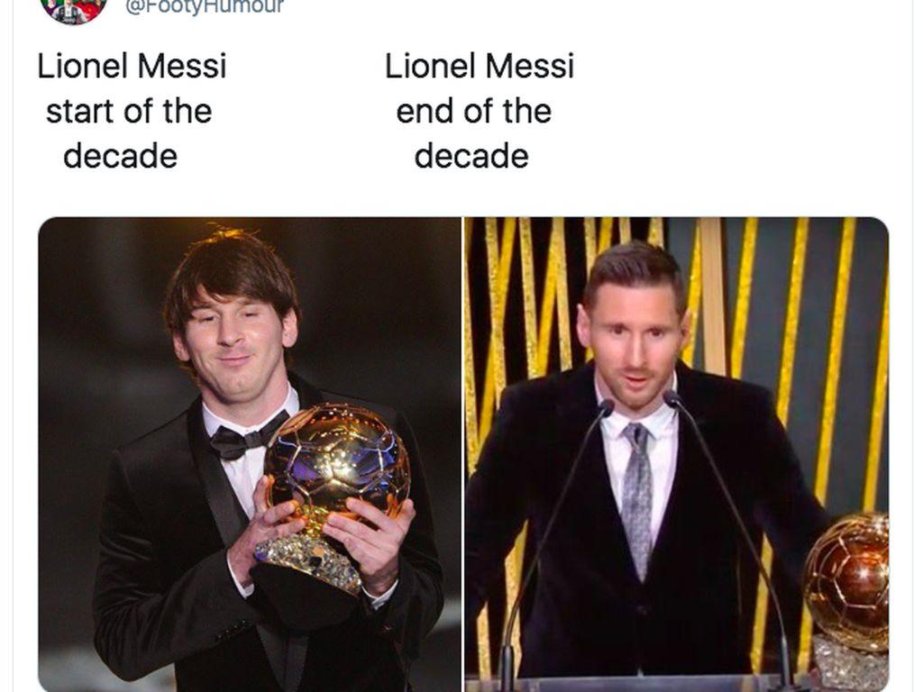 Dari awal dekade ini sampai sekarang, Messi tak henti menjadi pemain terbaik dunia. Foto: istimewa