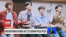 VIDEO: Aksi Boyband Korea NCT 127 Senam Poco-Poco