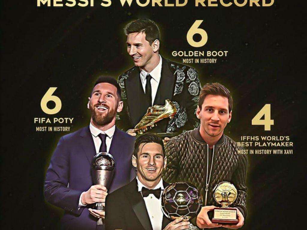 Rekor penghargaan yang digaet Messi. Foto: istimewa