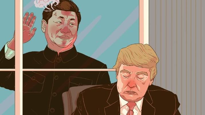 Infografis: Trump Teken UU Hong Kong, China Ngamuk & Perang Dagang