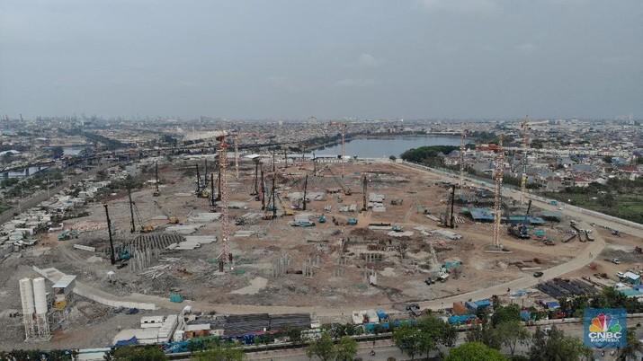 Melihat Progres Proyek Stadion Mirip 'Old Trafford' di DKI