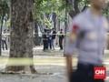 Olah TKP Ledakan di Monas, Brimob dan TNI Amankan Lokasi