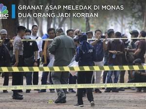 Granat Asap Meledak di Monas, Dua Orang Jadi Korban
