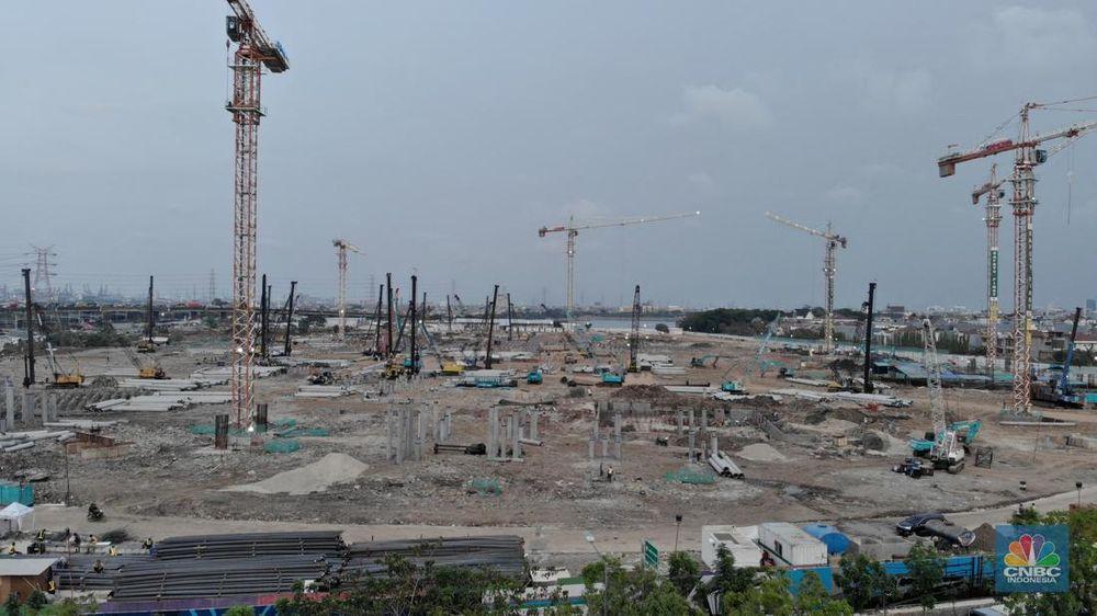 Pembangunan stadion ini ditargetkan rampung pada 2021.