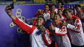 FOTO: Badminton Putra Indonesia Pertahankan Emas di SEA Games