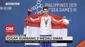 VIDEO: Edgar Sumbang 2 Medali Emas dari Cabor Wushu
