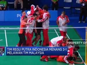 Horeee...Tim Badminton Putra Panen Emas
