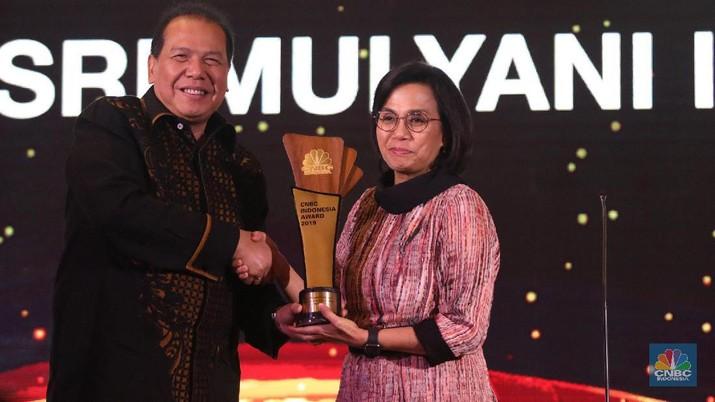 CNBC Indonesia Award 2019 menobatkan Sri Mulyani Indrawati sebagai The Best Minister.