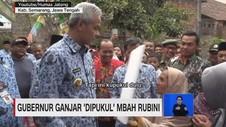 VIDEO: Gubernur Ganjar Pranowo 'Dipukul' Mbah Rubini