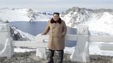 Langkah itu dianggap simbol untuk memperingatkan Amerika Serikat bahwa tenggat terkait perundingan pencabutan sanksi dan pelucutan senjata nuklir yang ditetapkan pada akhir 2019 semakin sempit. (Korean Central News Agency/Korea News Service via AP)