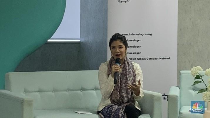 Istri Nadiem Makarim, Franka Makarim, bicara pentingnya peran wanita dalam pembangunan ekonomi suatu bangsa