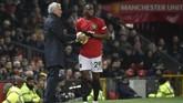 Pertandingan melawandi pekan ke-15 itu jadi kunjungan pertama Jose Mourinho ke Old Trafford usai dipecat manejemen Setan Merah pada Desember 2018. (AP Photo/Rui Vieira)