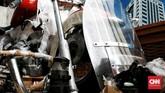 FLH Electra Glide Shovelhead merupakan barang langka di Indonesia. Anak Elang Harley-Davidson of Jakarta, dealer resmi Harley-Davidson di Indonesia, menjelaskan, motor 1970-an ini tidak dijual di dalam negeri. (CNN Indonesia/Andry Novelino)