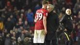 Kemenangan MU merupakan pemutus tren rapor kemenangan Mourinho bersama Tottenham. Sebelumnya Mourinho selalu meraih kemenangan dalam tiga laga terakhir di semua kompetisi. (AP Photo/Rui Vieira)