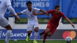 Babak I: Indonesia dan Myanmar Imbang Tanpa Gol