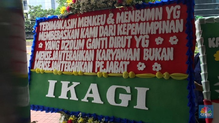Dirut Garuda Dipecat, Kementerian BUMN Banjir Karangan Bunga