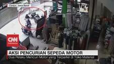 VIDEO: Aksi Pencurian Sepeda Motor Terekam CCTV