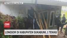 VIDEO: Longsor di Kabupaten Sukabumi, 1 Tewas