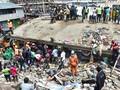 FOTO: Bangunan Enam Lantai Runtuh di Kenya