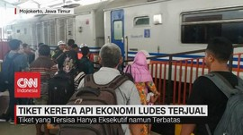 VIDEO: Tiket Kereta Api Ekonomi Ludes Terjual