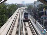 Penampakan Duet Angkutan Massal LRT dan TransJakarta