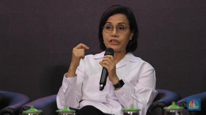 Menteri Keuangan Sri Mulyani dalam acara
