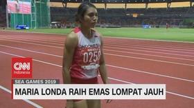 VIDEO: Maria Londa Raih Emas Lompat Jauh SEA Games 2019