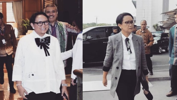 Viral, Ini Tampilan Modis Menlu Retno Usai Diet 8 bulan!