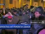 Bentrokan Massa Aksi & Polisi Huru Hara di Demo Lebanon