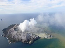 Dahsyatnya Letusan Gunung Api White Island di Selandia Baru