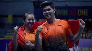 FOTO: Badminton Indonesia Penuhi Target Emas di SEA Games